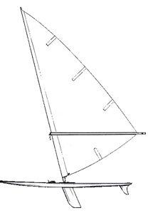 Windsurfer Line Drawing