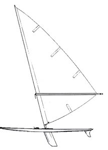 Windsurfer Line Drawing